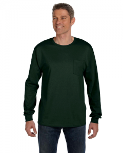 6.1 oz. Tagless ComfortSoft Long Sleeve Pocket T Shirt