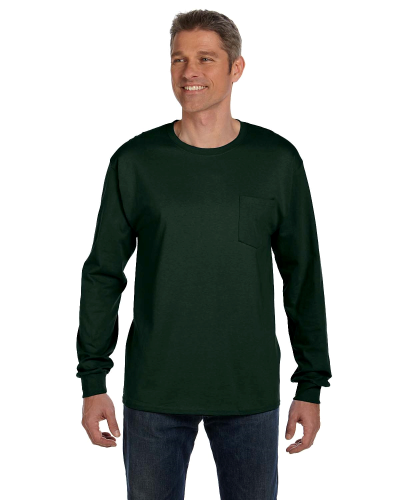 6.1 oz. Tagless ComfortSoft Long Sleeve Pocket T Shirt