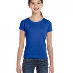 Girls Stretch Rib Short Sleeve T Shirt