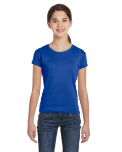 Girls Stretch Rib Short Sleeve T Shirt