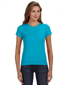 Ladies 1x1 Baby Rib Scoop T Shirt