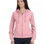 Ladies Fleece Full Zip Raglan Hoodie