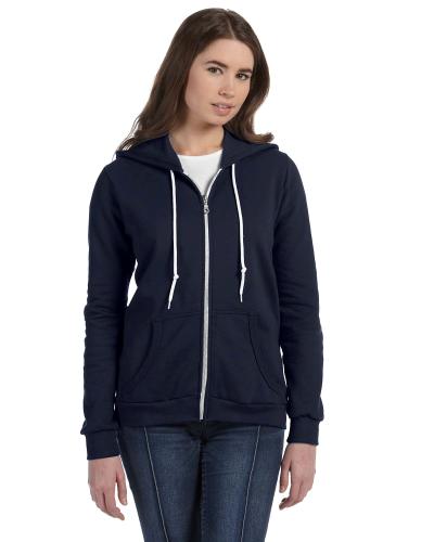 Ladies Full Zip Hooded Fleece