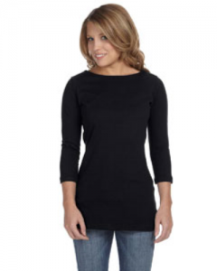 Ladies Jersey Half Sleeve Boatneck T Shirt