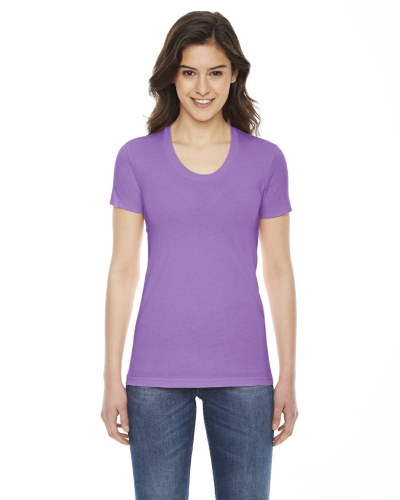 Ladies Poly Cotton Short Sleeve Crewneck