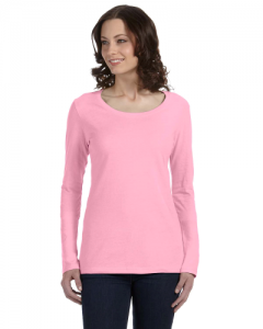 Ladies Ringspun Sheer Long Sleeve Featherweight T Shirt