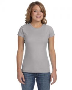 Ladies Stretch Rib Short Sleeve T Shirt