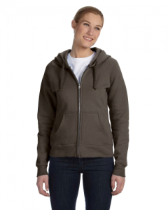 Ladies 8 oz. 80 20 ComfortBlend EcoSmart Full Zip Hood